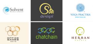 Стили-логотипов-спираль-кольца