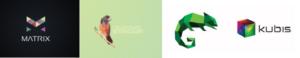 Стили-логотипов-кубизм